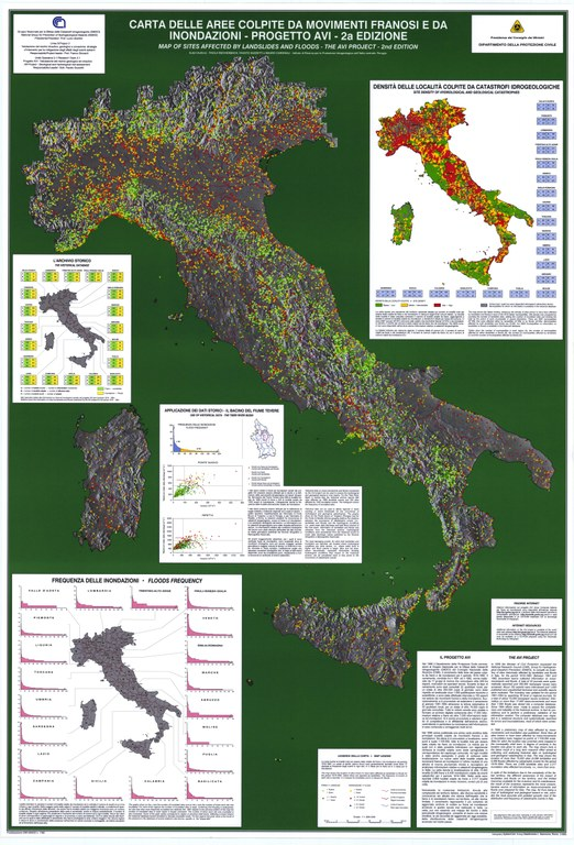 Map of sites historically affected by landslides and floods in Italy, 2nd edition