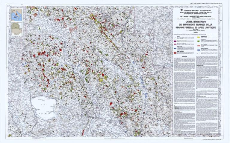 Carta Inventario dei Movimenti Franosi della Regione dell'Umbria ed aree limitrofe (1/2)