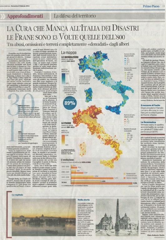 La cura che manca all'Italia dei disastri. Le frane sono 13 volte quelle dell'800