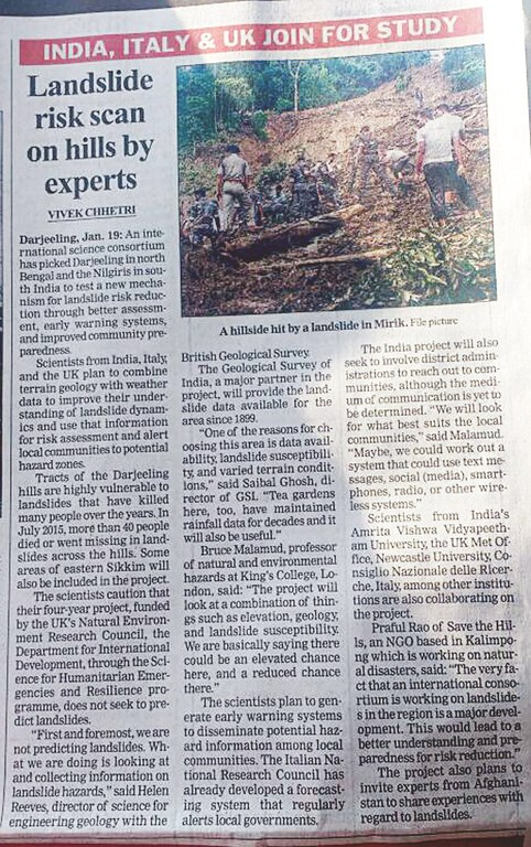 Landslide risk scan on hills by experts