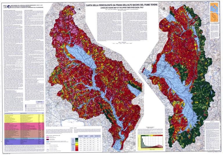 Landslide hazard map for the Upper Tiber River basin